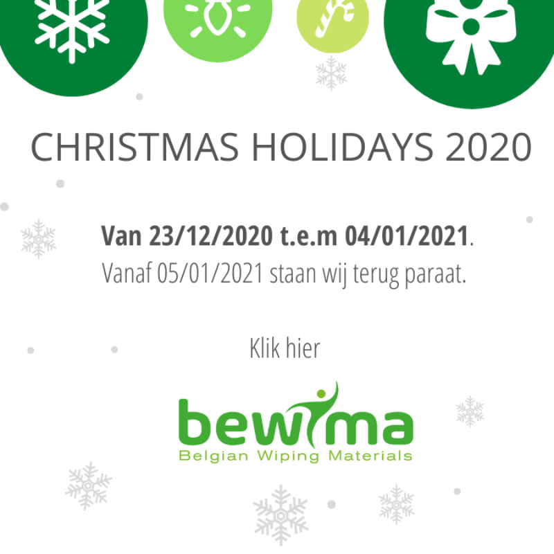 CHRISTMAS HOLIDAYS 2020 NL Bewima popup